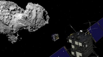 Rosetta and Philae at comet large